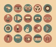 Icons musical instruments Royalty Free Stock Photo