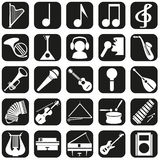 Icons musical instruments Stock Photos