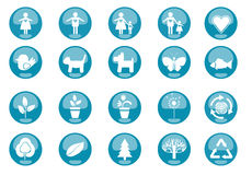 Icons Nature. Set of 20 environmental icons and design-elements Stock Illustration