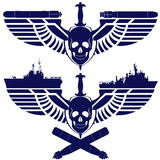 Icons of the Navy Royalty Free Stock Photo