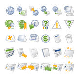 ICONS - network. Internet & Web icon set 3 color palette (blue, green and orange) -  Vector illustrated icons refers to Royalty Free Stock Photo
