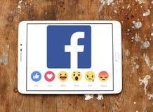 Facebook like button Empathetic Emoji icons royalty free stock images