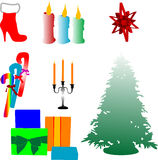 Icons for New Year Stock Image