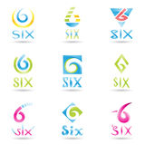 Icons for Number 6 Stock Photos
