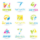 Icons for Number 7 Royalty Free Stock Image