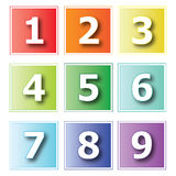 Icons numbers. Collection of number sign icons isolated on white Royalty Free Stock Images