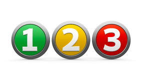 Icons numbers 1 2 3 Stock Photos