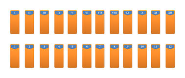 Icons for the numeration with Roman numerals Royalty Free Stock Photo