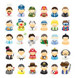 Icons Occupations Stock Image