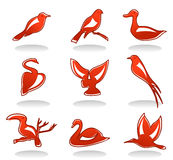 Icons Of Birds Stock Image