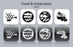Icons Of Food And Restaurants Royalty Free Stock Image