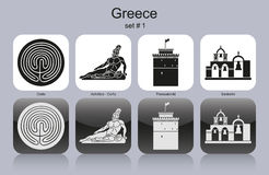 Free Icons Of Greece Stock Photos - 37473793