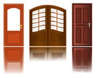 Icons Of Wooden Doors, Cdr Vector Royalty Free Stock Photography