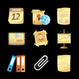 Icons for office Stock Photography