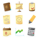 Icons for office Stock Images