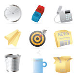 Icons for office Royalty Free Stock Images