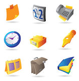 Icons for office Royalty Free Stock Photos