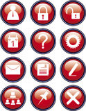 Icons office. Set icons office : user mail Stock Illustration