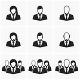 Icons of office employees. Royalty Free Stock Images