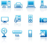 Icons of office equipment vector illustration