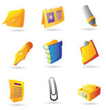 Icons for office items Stock Photography