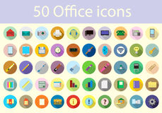 Icons of office supplies Royalty Free Stock Images