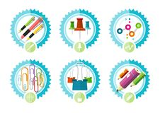 Icons of office tools Stock Photos