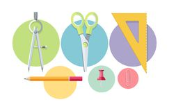 Icons of office tools Royalty Free Stock Photography