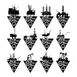 Icons oil industry-1 Royalty Free Stock Images