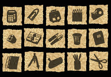 Free Icons On Crumpled Paper Royalty Free Stock Photo - 3140435