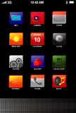 Icons On Tablet Phone Screen Stock Photography