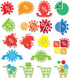 Icons Online Store Royalty Free Stock Image