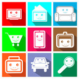 Icons for the online store Stock Photography