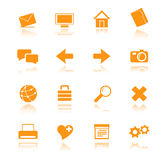Icons_orange_01 Imagem de Stock Royalty Free