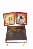 Icons and orthodox book Stock Photography