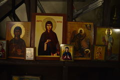 Icons in orthodox church Royalty Free Stock Photos