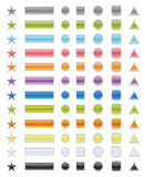 Icons pack (). Vector illustraion of icon mix with different shapes Stock Photo