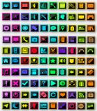 100 icons pack. Material design 100 icons pack Vector Illustration