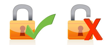 Icons of padlock Royalty Free Stock Photo