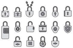 Icons of padlocks Royalty Free Stock Photo