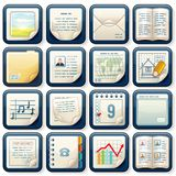 Icons with Paper Documents. Business Design Royalty Free Stock Image