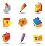 Icons for papers and notes Stock Photography