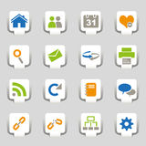 Icons Part 1. Icons isolated on grey background Royalty Free Stock Photo
