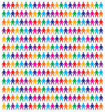 Icons people background Royalty Free Stock Photo