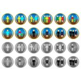Icons of people royalty free illustration