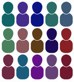 Icons of people of different colors. Raster Stock Photo