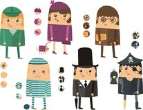 Icons of people of different professions Royalty Free Stock Photo