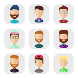 Icons of people in a flat style Royalty Free Stock Photography