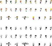 Icons of people Royalty Free Stock Image