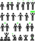 Icons psychology people stock illustration